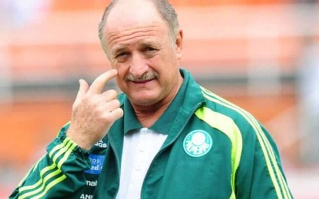 Felipão,l técnico do Palmeiras, que ainda não fechou com a Globo