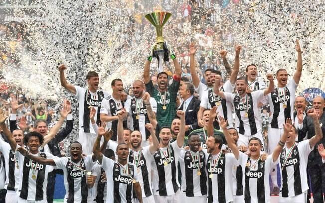 Juventus comemora mais um título italiano
