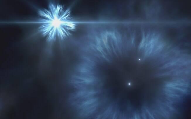 A estrela, a cerca de 10 mil anos-luz da Terra, nasceu nove milhões de anos antes do Sol (representação gráfica)