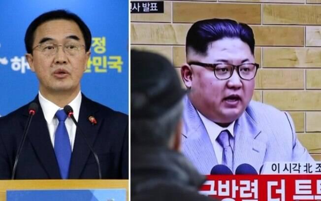 Cho Myoung-gyon, ministro sul-coreano da Unificação, e Kim Jong-un, ditador da Coreia do Norte, irão se reunir no dia 9 de janeiro