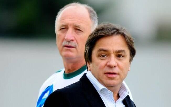 Tirone, presidente do Palmeiras, e Felipão