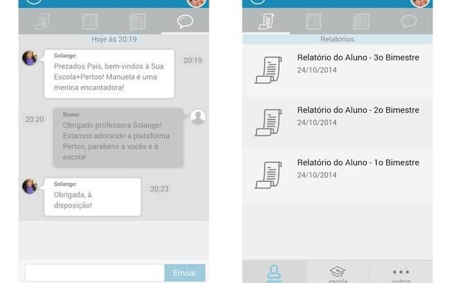 Pertoo é aplicativo brasileiro que substitui a agenda escolar e estreita a comunicação entre escola e pais. Gratuito, está disponível para Android e iOS