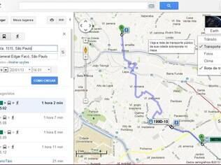 Informações de transporte público no Google Mapas