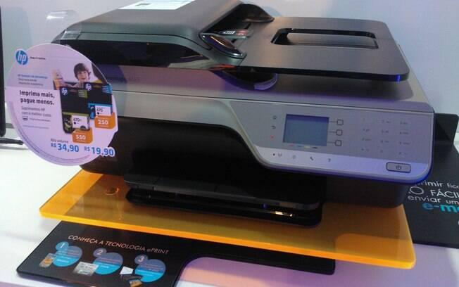 Impressora da HP, modelo 4625, permite enviar fotos por e-mail para impressão