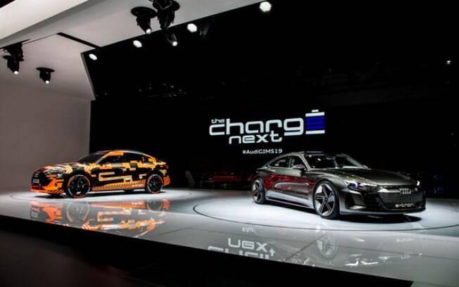 Apresentação da Audi, durante a edição 2019 do Salão de Genebra