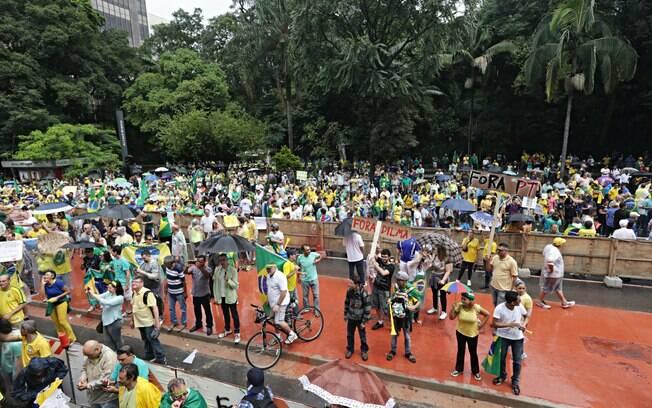 Manifestação contra o governo Dilma enche a Avenida Paulista, em São Paulo. Foto: Robson Fernandjes/ Fotos Públicas