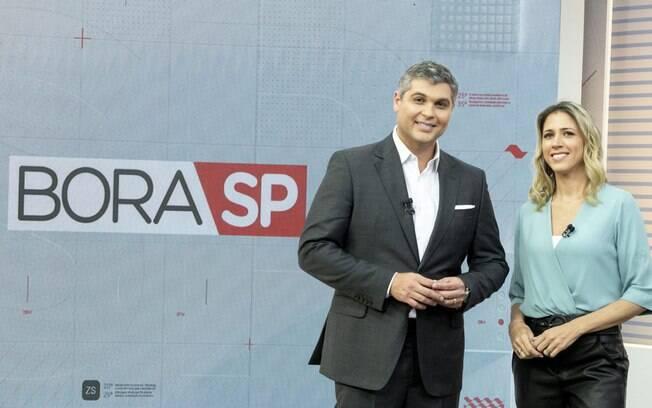 Joel Datena e Laura Ferreira no