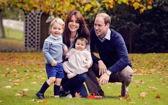 O casal príncipe William e Kate Middleton já tinha George, de 4 anos, e Charlotte, de 2