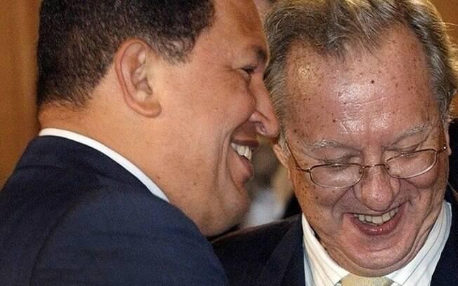 Hugo Chávez e ex-embaixador da Espanha na Venezuela