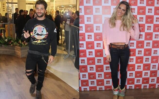 Bruno Gagliasso e Giovanna Ewbank chegam ao Mega polo Moda