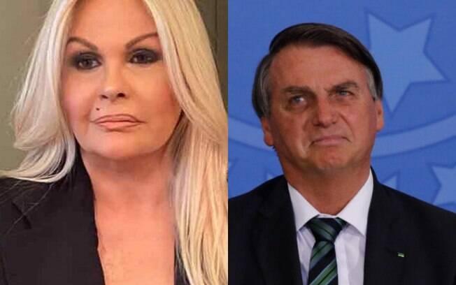 Monique Evans e Jair Bolsonaro