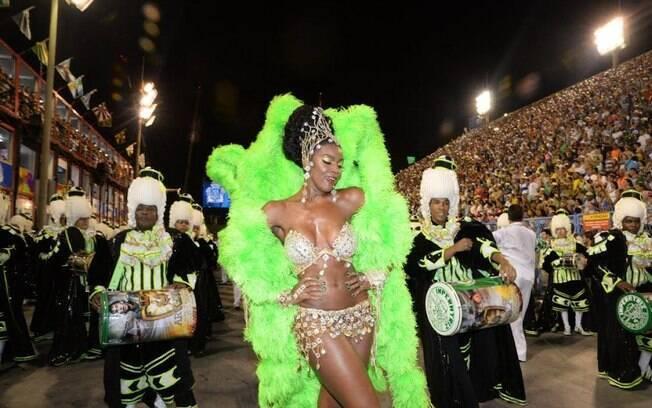 Rainha de bateria, Cris Vianna desfila pela segunda vez na Sapucaí com a Imperatriz