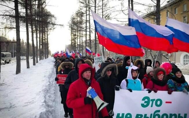 O governo russo já afirmou que irá reprimir duramente