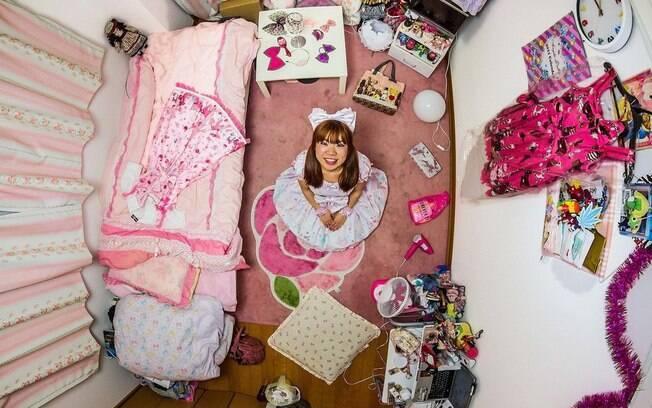 Quarto de Ryoko, 25 anos, engenheira de Tecnologia da Informação em Tóquio, Japão