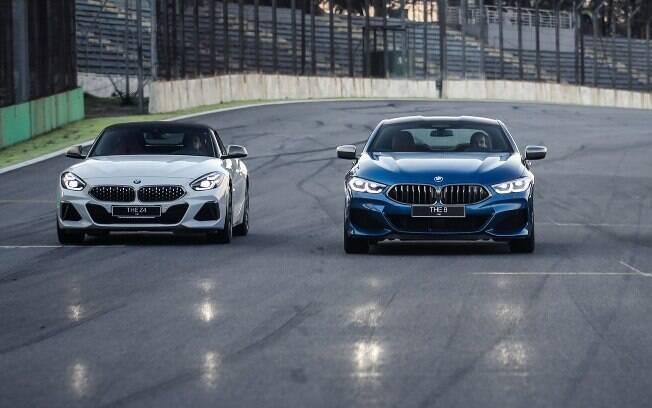 BMW Z4 ao lado do cupê grande M 850i forma a dupla das principais novidades da linha  M que chega ao Brasil