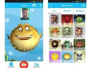 Aplicativo de troca de mensagens animadas com reconhecimento facial criado pela Intel, Pocket Avatars está disponível para usuários de iOS e Android
