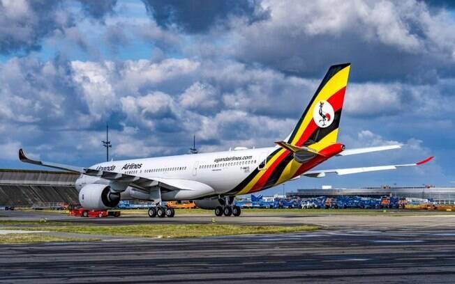 Primeiro A330neo da Uganda Airlines tem sua pintura finalizada