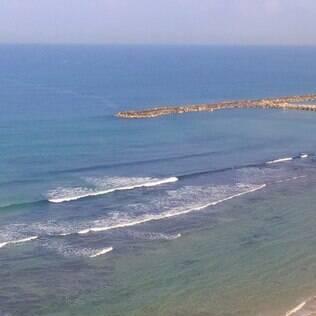 Vista do mar Mediterrâneo que banha Tel Aviv
