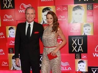 ... o casal Ticiane Pinheiro e Roberto Justus, que foi um dos apresentadores da noite...