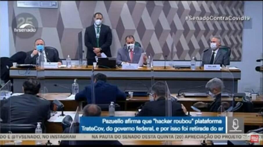 Pazuello afirma que TrateCOV foi hackeado
