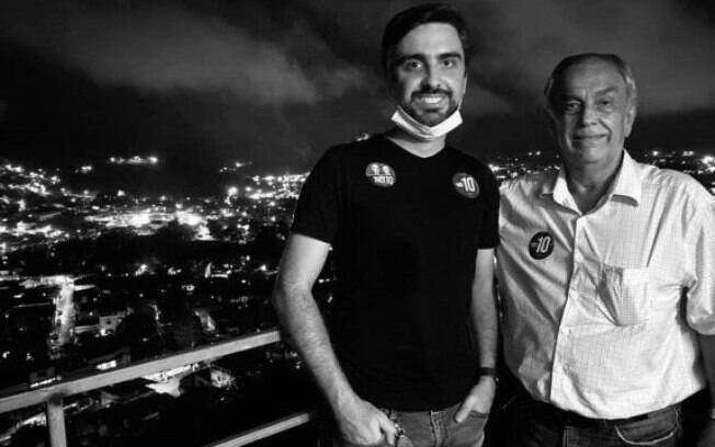 Candidato Paulo Sergio Cyrillo com o filho, Serginho