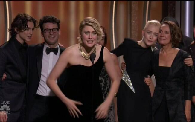 Greta Gerwig  ganhou o Globo de Ouro de Melhor Filme de Comédia por