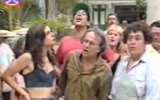 Daniella Perez com Marilu Bueno e Stênio Garcia, seus pais em 'De Corpo e Alma'