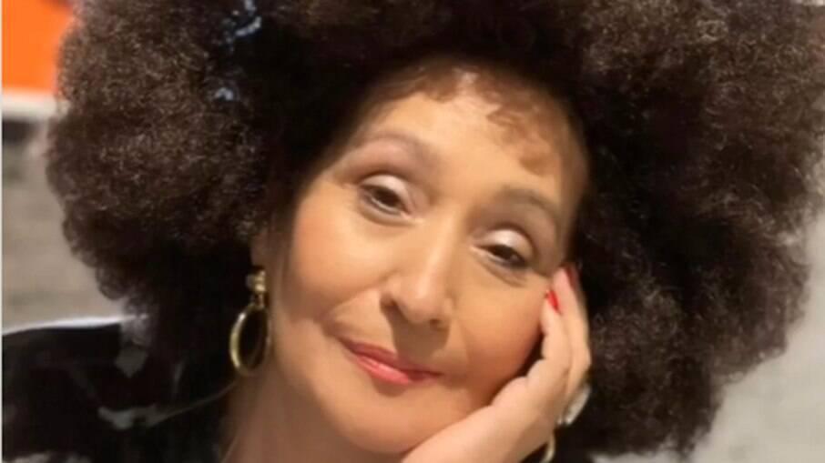 Sônia Abrão posta foto com peruca black power e é detonada