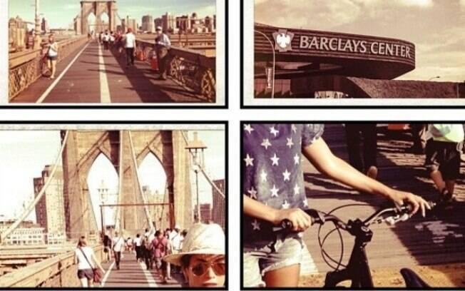 Beyoncé deixa carro em casa e vai de bicicleta para show
