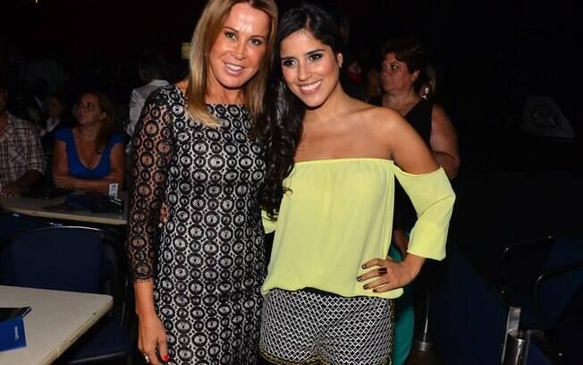 Zilu Camargo com a filha Camilla