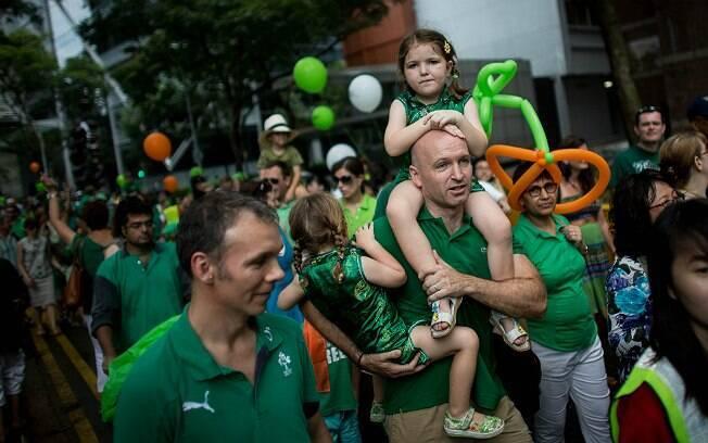 Saint Patrick's Day é comemorado em Cingapura (foto de março de 2013)