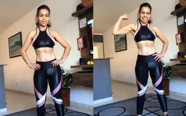 Cledjane utilizou os exercícios pós-parto do programa Mamãe Sarada para conseguir emagrecer 23 kg em oito meses