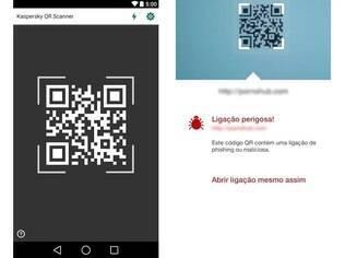 Gratuito, o Kaspersky QR Scanner roda em aparelhos Android e iOS e protege o usuário de links maliciosos escondidos em códigos QR