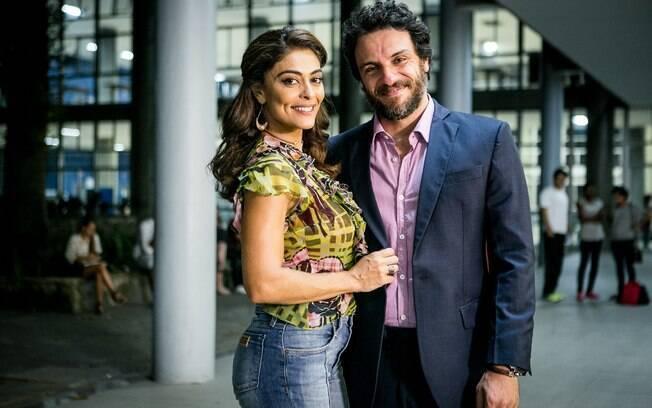 Juliana Paes e Rodrigo Lombardi vão contracenar juntos pela terceira vez em