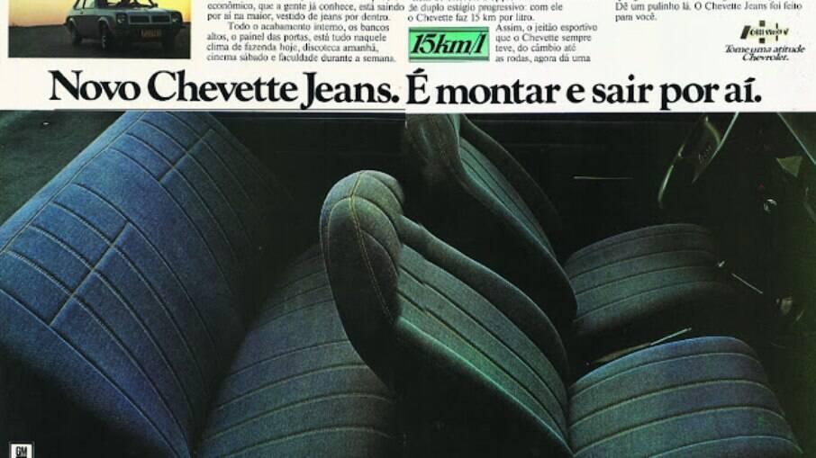 Chevrolet Chevette Jeans como o próprio nome denuncia, recebia acabamento com o mesmo tecido feito da popular calça.