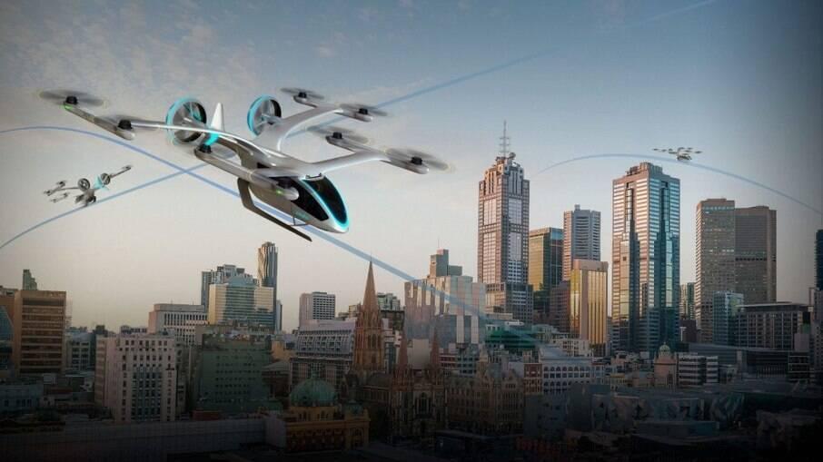 eVTOLs (decolagem e pouso vertical elétrico) são a esperança para o futuro da mobilidade aérea urbana