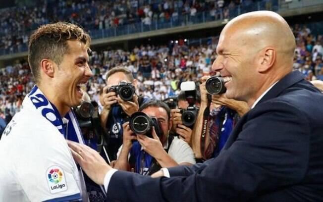 Cristiano Ronaldo e Zinedine Zidane deixaram o Real Madrid