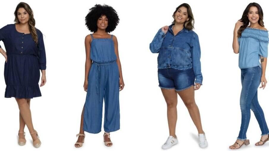 Versátil, o jeans pode ser usado em todas as peças e compor looks inteiros