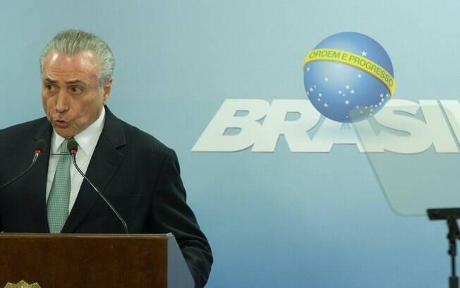 O presidente Michel Temer comemorou a aprovação da reforma trabalhista pelo Senado Federal