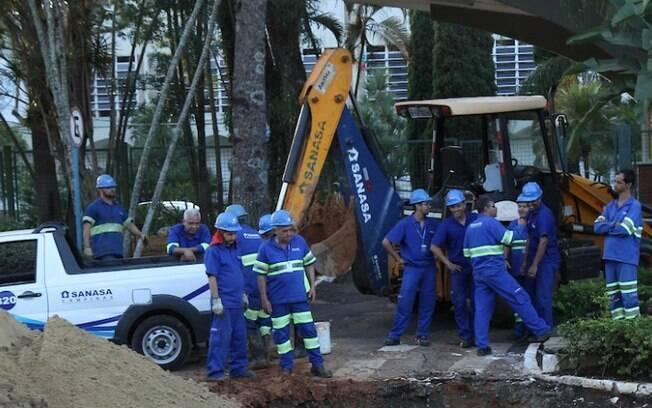 Obras da Sanasa cortam água de 12 bairros nesta quarta