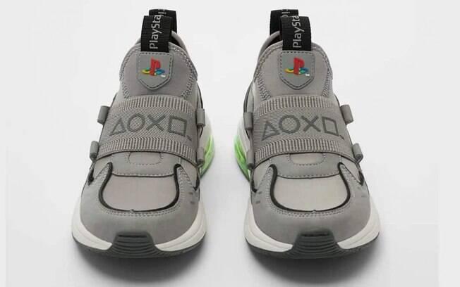 Tênis têm elementos inspirados no PlayStation 1