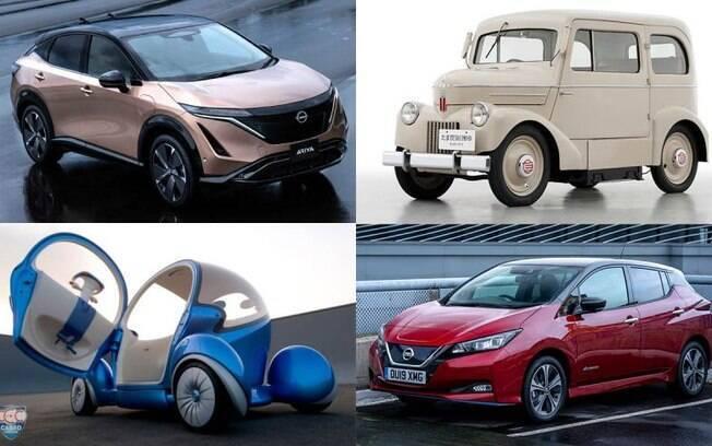 Top 12 carros da Nissan que mostram a evoluo dos carros eltricos
