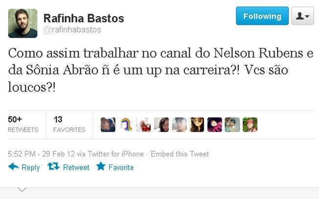 Rafinha Bastos comenta sobre os salários da RedeTV!