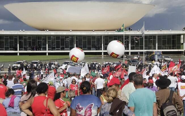 Além de Brasília, ato da CUT contra a mudança na lei da terceirização aconteceu em outras cidades do País, como São Paulo