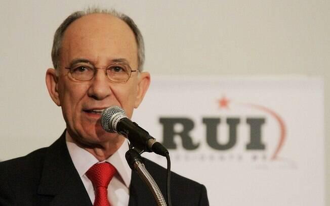 O presidente nacional do PT, Rui Falcão: documento foi apresentado em coletiva do político