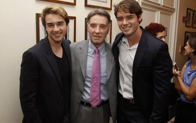 Eike Batista com os filhos Olin e Thor