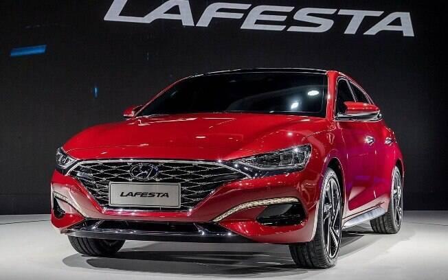 Hyundai Lafesta: modelo  tem ares de cupê. Essa filosofia faz parte da nova abordagem de design da fabricante