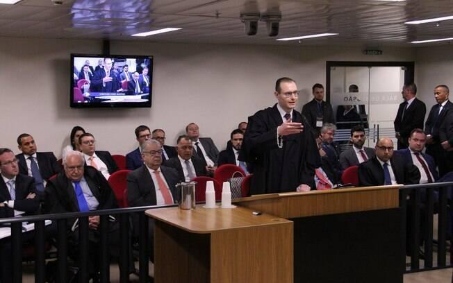 Advogado de Lula, Cristiano Zanin Martins; Record News transmitiu na íntegra todo o julgamento de Lula nesta quarta