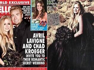 Avril Lavigne e Chad Kroeger se casaram em união gótica em castelo na França, em 29 de junho