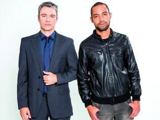 Vingança. Personagem de Silvio (à direita) busca se vingar do próprio irmão, vivido por Paes Leme